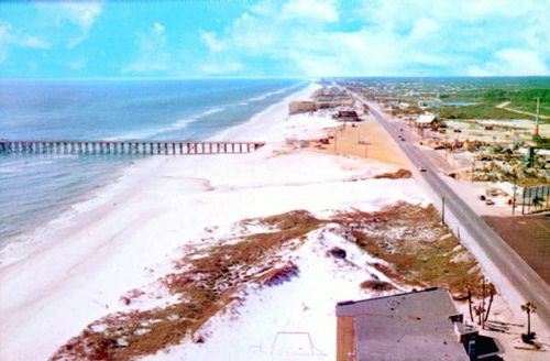 Remember when?  Aerial view Panama City Beach, Florida early 1960's by stevesobczuk, via Flickr