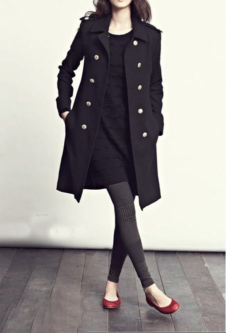 Wool overcoat in Black FM012, FM908, $98, #coat #clothes