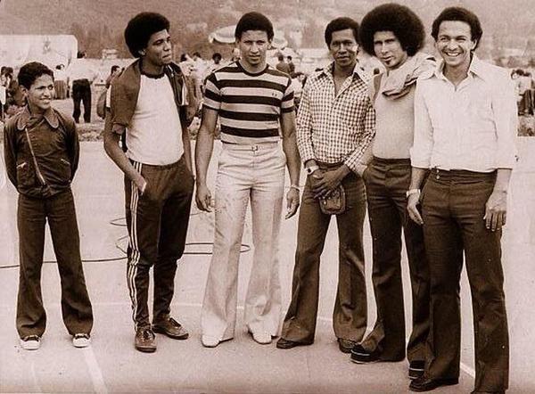 Nilson, Pedro Zape, Osvaldo Calero, Diego Umana y Miguel Escobar - Deportivo Cali 1972
