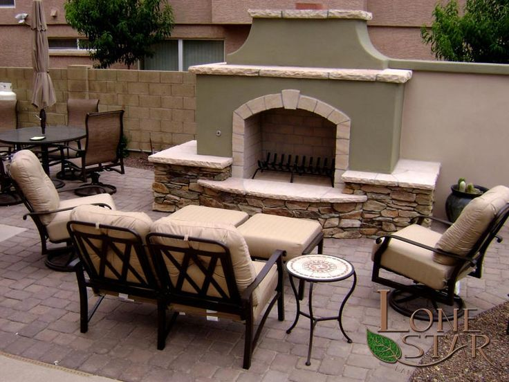 Traditional outdoor fireplace with flagstone and stone veneer accents - 37 Best Landscape Fire Features Images On Pinterest Backyard