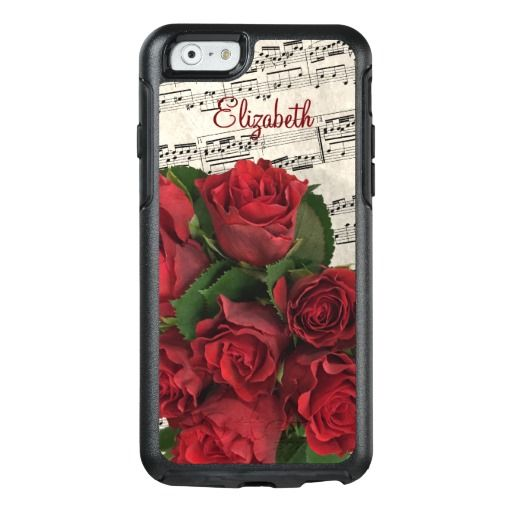 Red Roses Love Melody Customized OtterBox iPhone 6/6s Case A unique custom gift for your love on Valentine's Day.