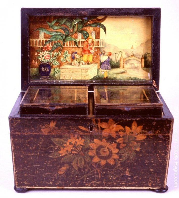 dating antique tea caddies