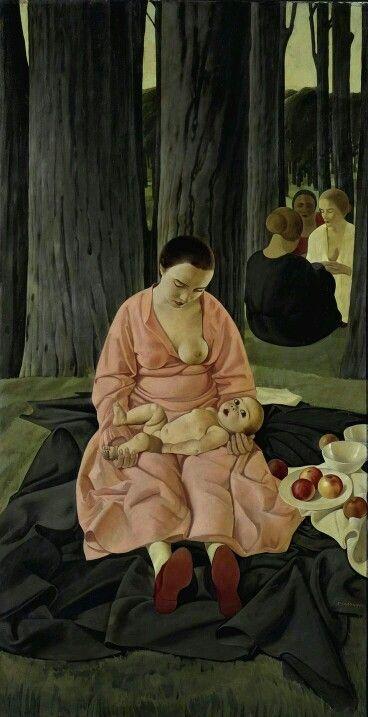 Felice Casorati (1883-1963, Italian) - Madre o Maternità, 1923-1924
