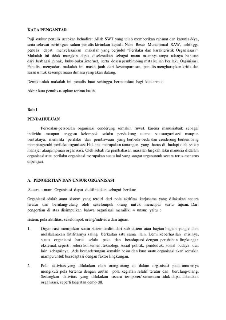 perilaku-organisasimakalah by FAKULTAS ILMU SOSIAL DAN POLITIK TANJUNGPURA via Slideshare