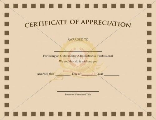 20 best images about Appreciation Certificate – Printable Certificate of Recognition