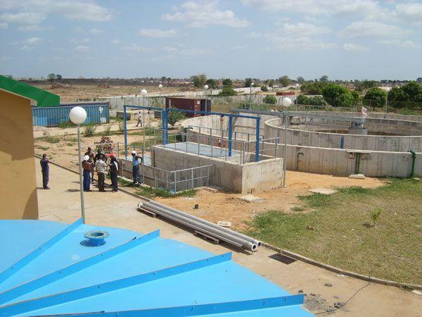 Eurofinsa planta de tratamiento de agua potable para la ciudad de Cabinda