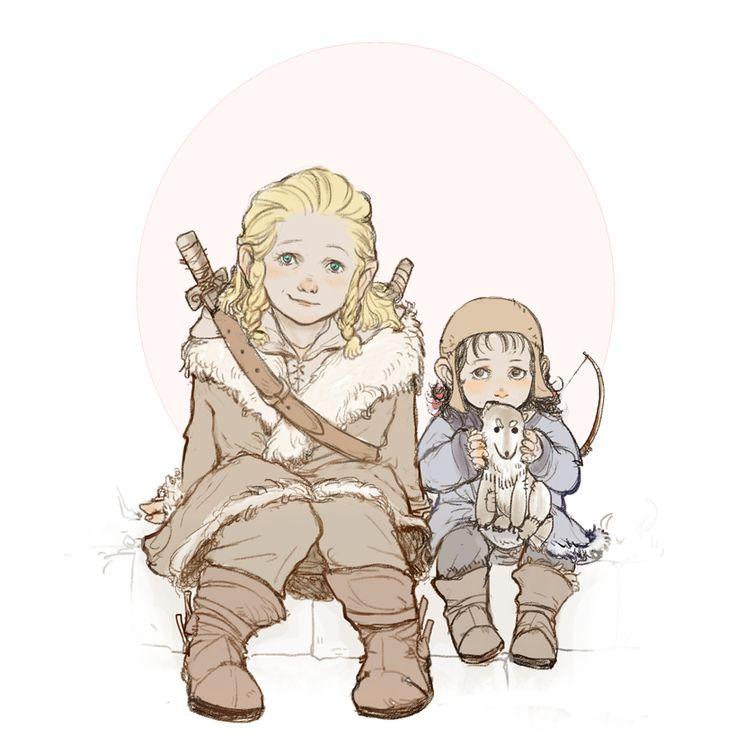 Фили и Кили в детстве