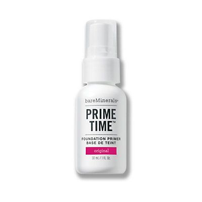 Prime Time Foundation Primer  Enlarged pores. Uneven texture. Flaky dryness. We've all had complexion problems. That's why we created Prime Time, which prepares your skin for seamless coverage with bareMinerals SPF 15 Foundation. Apply it first for the smooth, evenly textured complexion you've been waiting for.