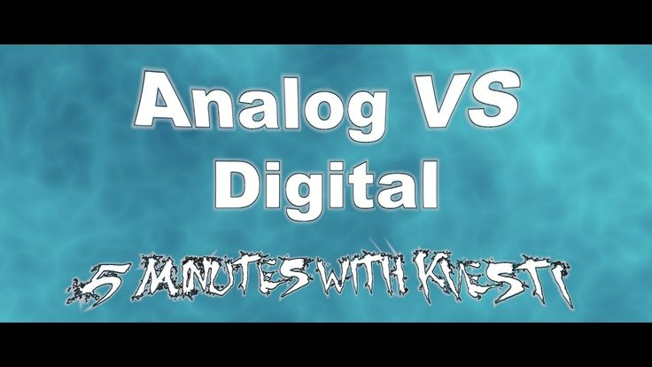 Analog vs Digital - 5 Minutes with Kvesti