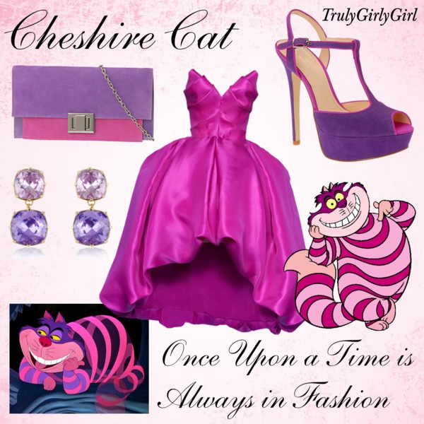 """""""Disney Style: Cheshire Cat"""" by trulygirlygirl ❤ liked on Polyvore"""