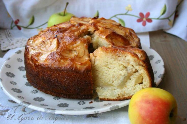 Receta de Bizcocho de manzana sin grasa | Eureka Recetas