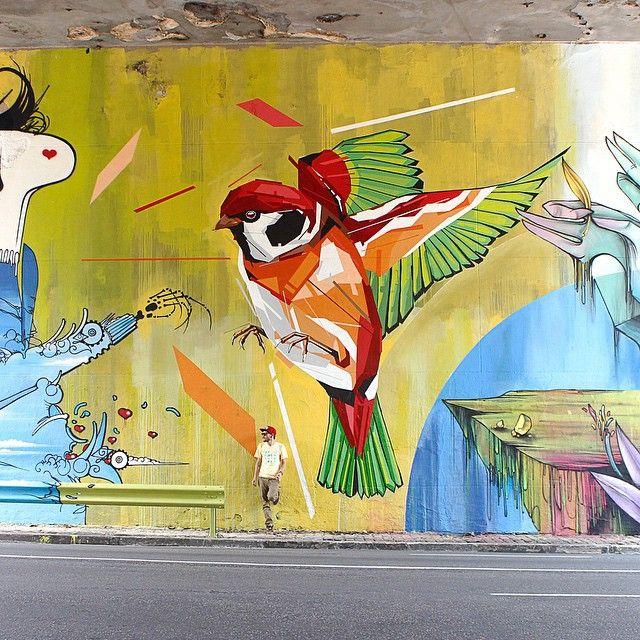 Best My Work Images On Pinterest Street Art Graffiti And My - Awesome mechanical shark mural phlegm