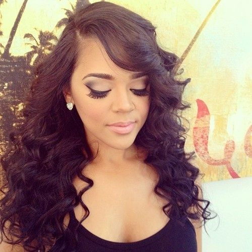 Cute Curly Sew in Weave Hairstyles