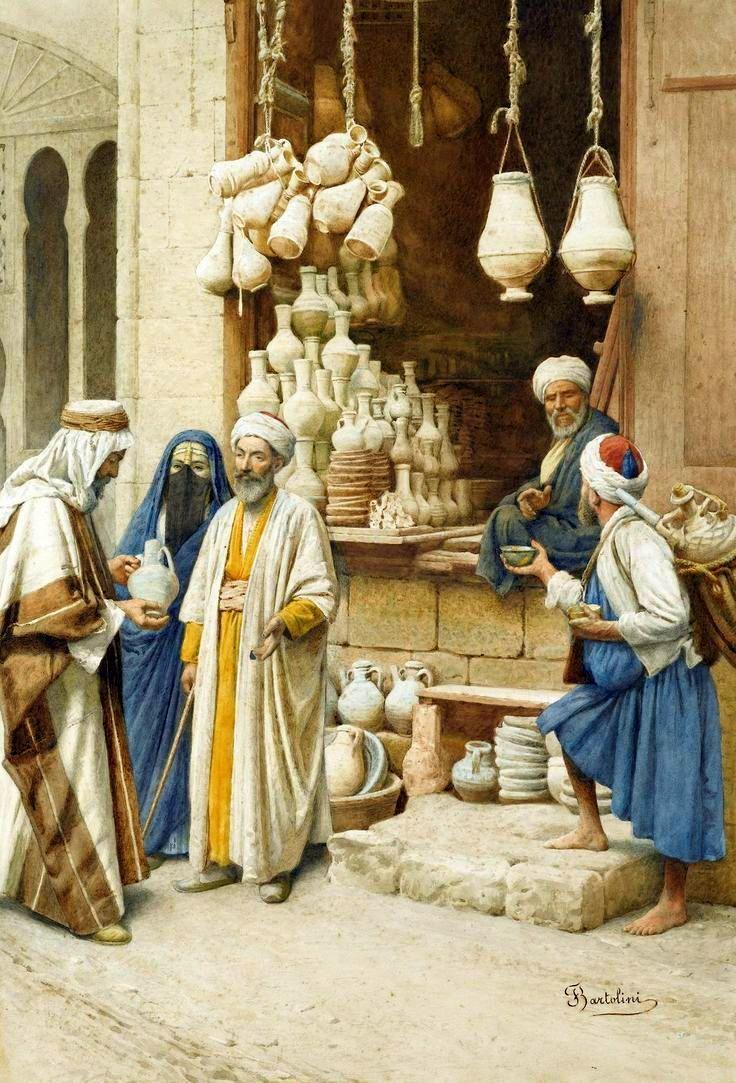 "Federico Bartolini (Italian, 19/20th century) ""The pot seller"""