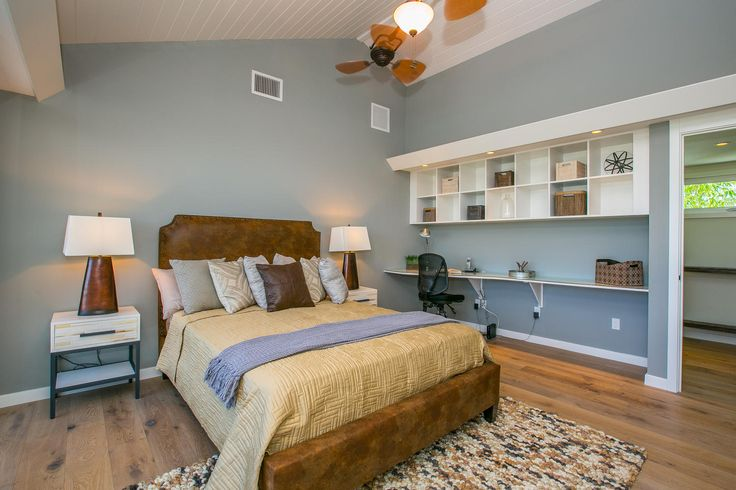 The perfect beach bedroom - coastal decor to suit the Florida beach side location on Anna Maria Island.