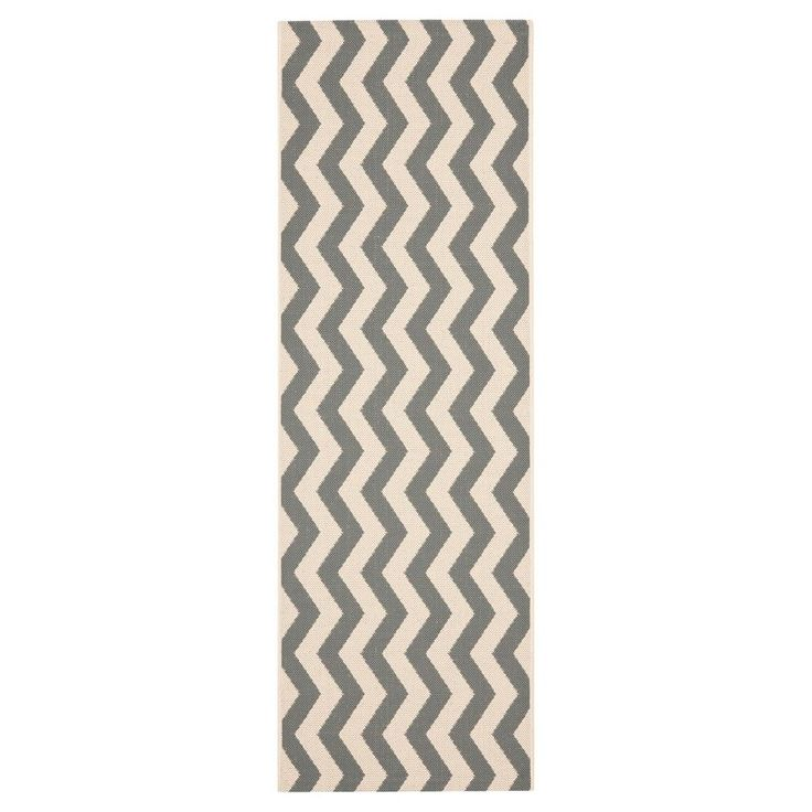 Wels Square 4' X 4' Outdoor Patio Rug - Gray / Beige - Safavieh, Gray/Beige