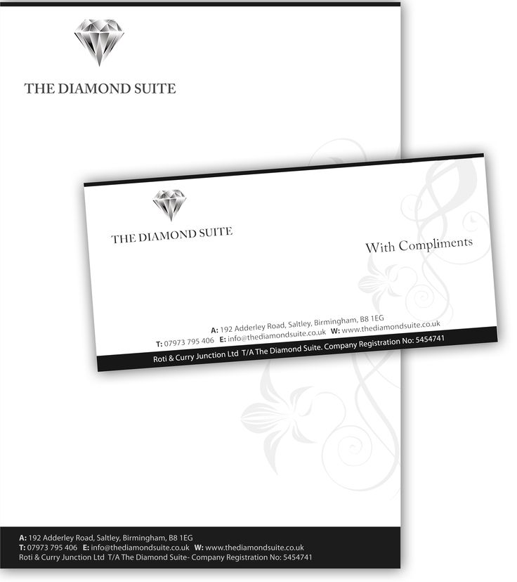 Diamond Suite Letter head and compliment slip design