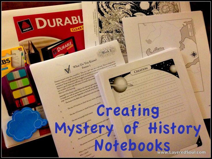 Organizing Our Mystery of History Notebook -  http://layeredsoul.com/organizing-mystery-of-history-notebook/2013/07/