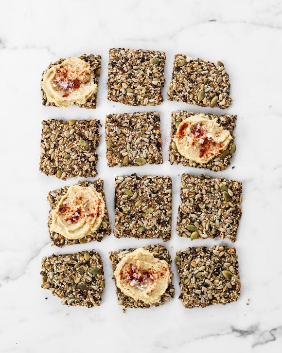 Sun Dried Tomato and Garlic Super Seed Crackers from Oh She Glows Every Day