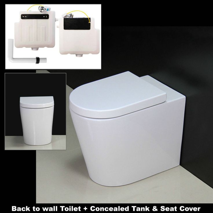 Toilet WC Bathroom Back to Wall Concealed Cistern Free Standing Ceramic Seat R2 in Home, Furniture & DIY, Bath, Toilets & Bidets | eBay