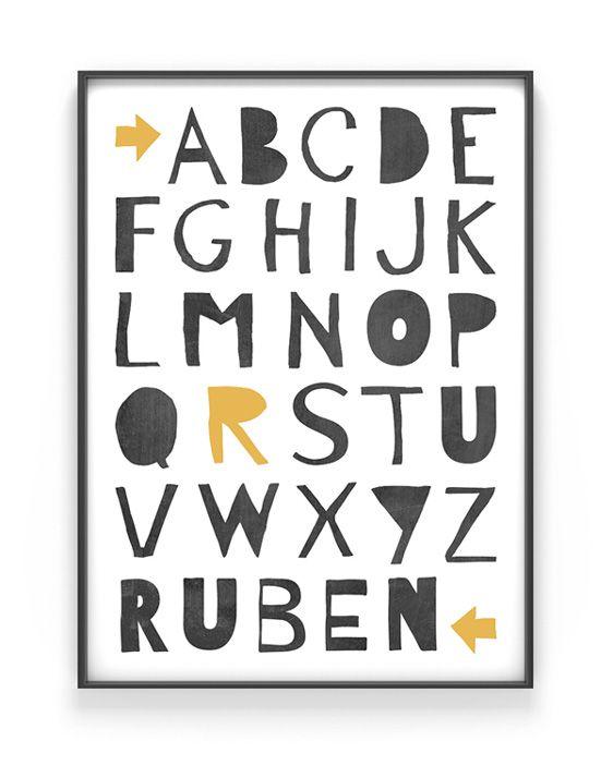 ABC Poster - Kinderzimmer-Poster-online-selber-machen-bei-Printcandy-