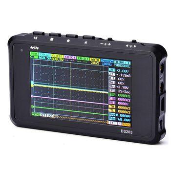 Dbpower oscilloscopio digitale arm dso203 pocket ds203 oscilloscopio cortex m3 cpu 8 mhz palmare osciloscopio digitale con alluminio