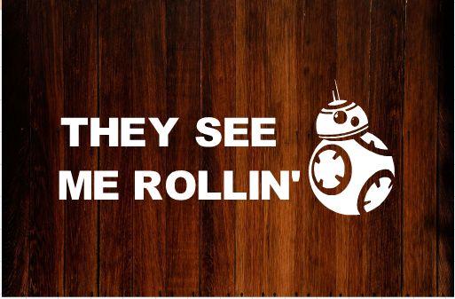 Star Wars BB8 Bumper Sticker/Decal #starwars #decals #vinyl #bb8