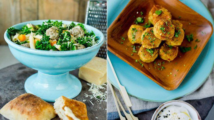 Lett helgekos etter ferien: Bakt aubergine, falafel og suppe med kjøttboller - Godt.no - Finn noe godt å spise