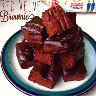 Ripped Recipes - Red Velvet Protein Brownies - Red Velvet + Brownies + Protein= Heaven