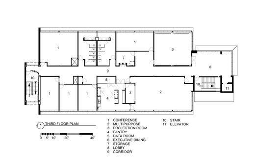 Fleck Hall,Third Floor Plan