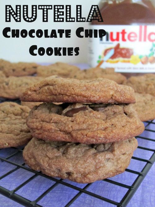 Nutella Chocolate Chip Cookies - Damn Delicious