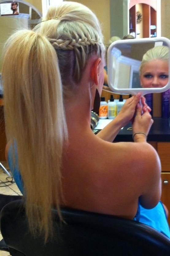 A french-braided ponytail mohawk... This looks awesome! Music festival worthy.