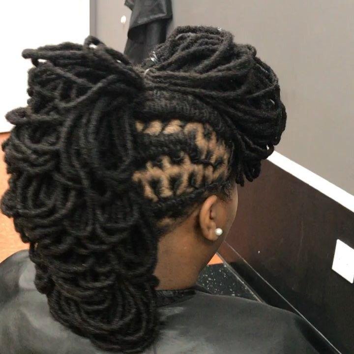 Sherelle Holder On Instagram Loc Petal Mohawk Done At Karibbeankinks Natural Hair Salon Text Natural Hair Salons Natural Hair Styles Locs Hairstyles