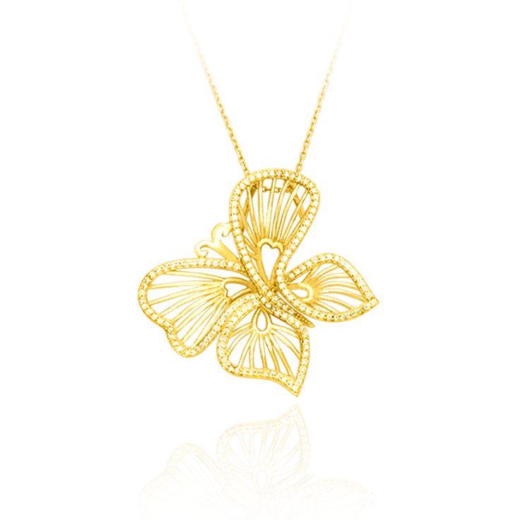 Wire Butterfly Pendant – Karina Ariana