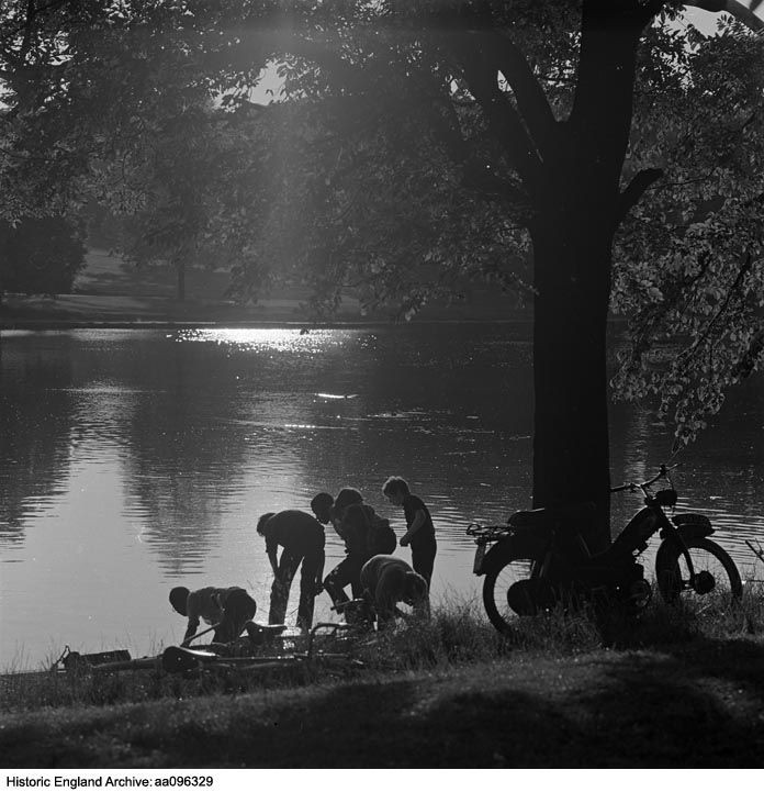 Highgate Ponds, Hampstead Heath, London.  John Gay, c.1970  Please click for more information, or to search our collections.
