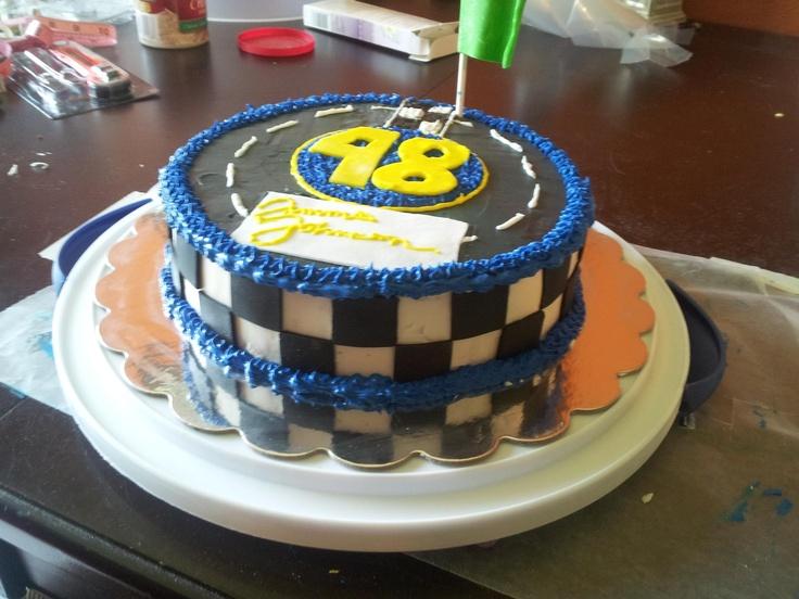 Nascar birthday cake I made for Marcus.
