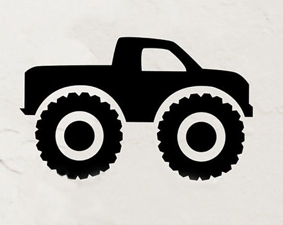 big monster truck wall decal monster truck by dadavinylsanddesigns #monster #truck #wall #decal #kids #room #decor