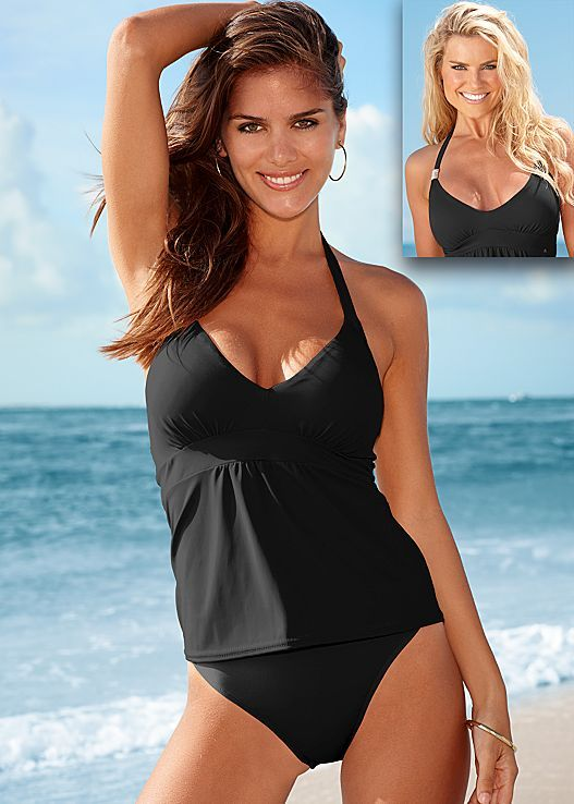 WATERMELON Siren enhancer tankini, high waist moderate, high waist full, slides from VENUS