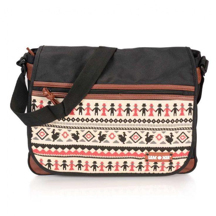 GEANTA DE UMAR MAYA NEGRU CU MARON - o geanta perfecta pentru plimbari, iti poti lua strictul necesar si ramane loc si pentru suveniruri.