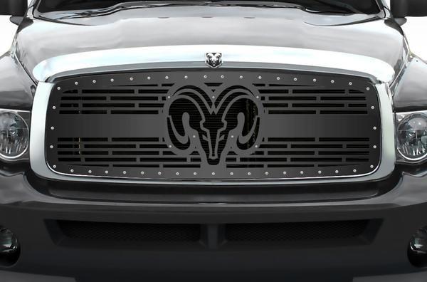 1 Piece Steel Grille For Dodge Ram 1500 2500 3500 2002 2005 Ram Head V2 Dodge Ram Dodge Ram 1500 Dodge Ram 1500 Accessories
