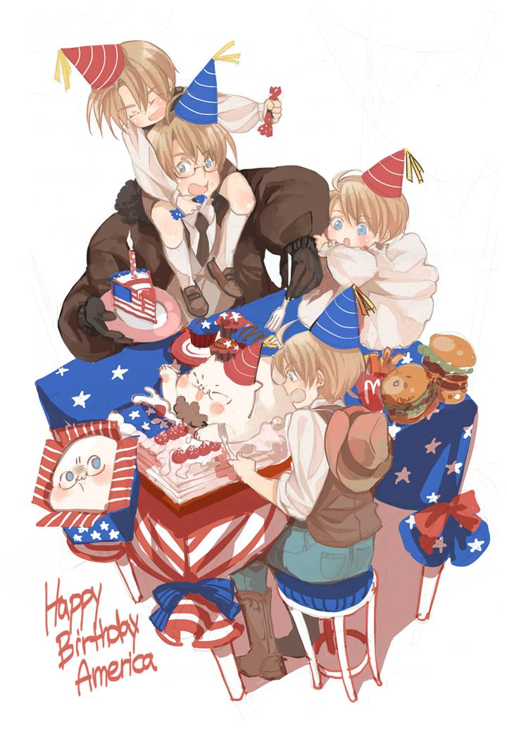 Hetalia America. And though it's late, Happy Birthday Alfie~