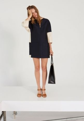 Indigo Melange Pauline Dress by Stella McCartney