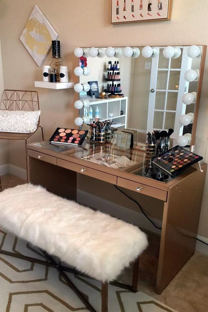 35 Most Popular Makeup Vanity Table Designs Home Decor Room Decor Vanity Room