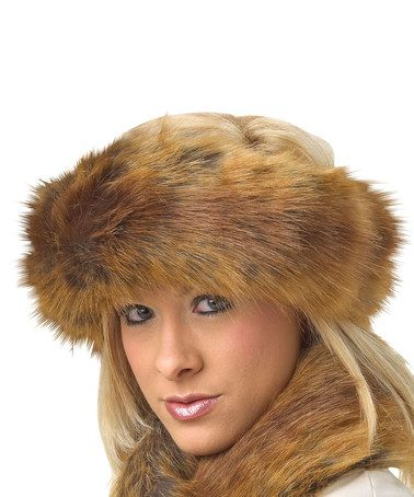 Look what I found on #zulily! Golden Red Faux Fox Fur Halo Headband by Donna Salyers' Fabulous-Furs #zulilyfinds