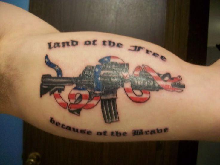 Assault Rifle NRA | My Tattoo Ideas and Designs | Tattoos ...