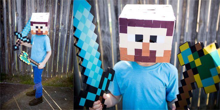 Boys Costume for Book Week - Minecraft Steve!