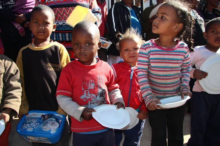 These hungry children are waiting for a meal http://www.tekkietax.co.za/