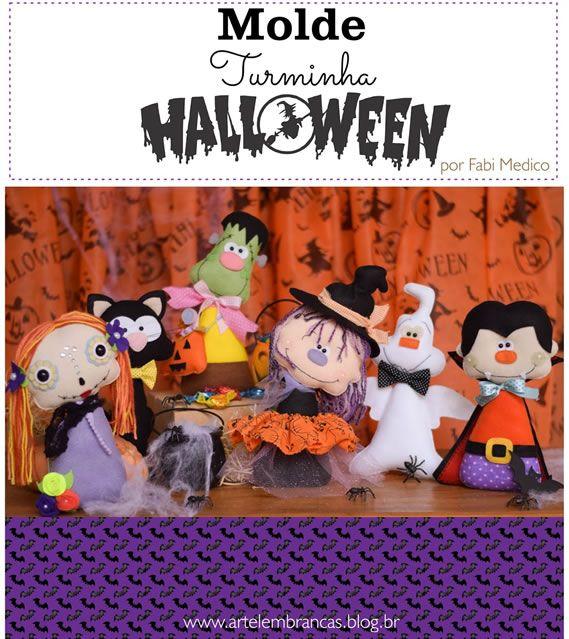 Moldes de halloween em feltro: http://artesanatobrasil.net/moldes-halloween-monstrinhos-de-feltro/
