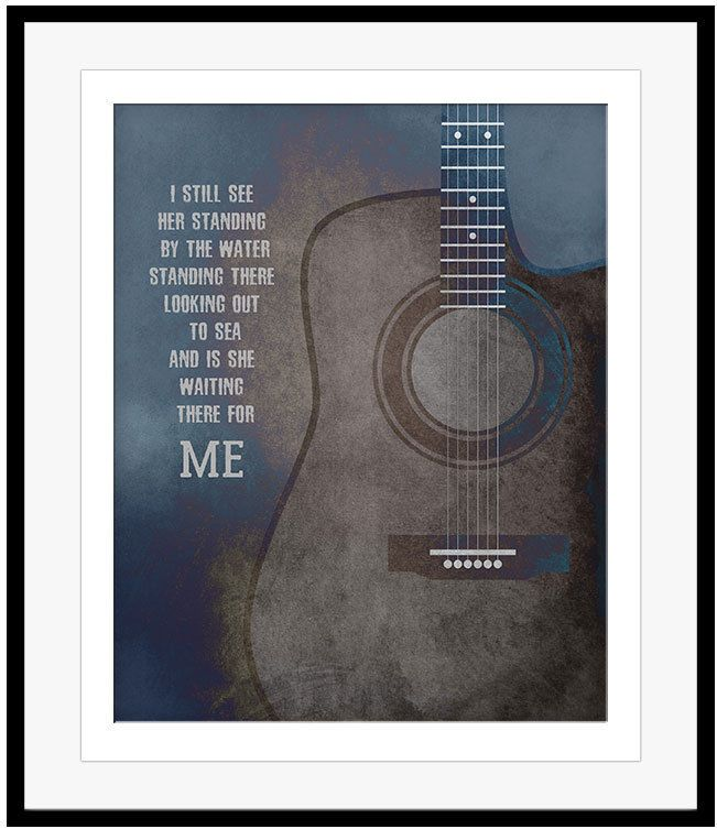 GALVESTON 60s Pop Music Poster GLEN CAMPBELL Song Lyrics Art Illustration Print #songlyricsart #60smusic #nowspinning #ebay #shopifypicks #bonanzaseller #classicrock #musicgift #ilovelyrics #lyricart #glencampbell #galveston #guitarart #acousticguitar #guitar #abstractart #typographicart