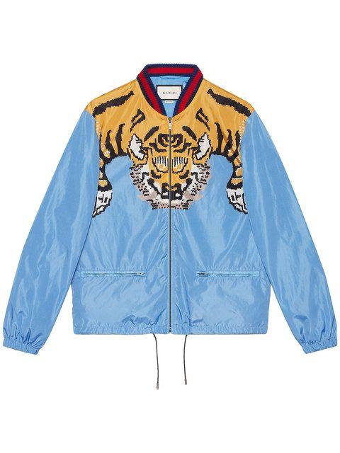 Gucci tiger print lightweight jacket